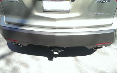 Car touch up - Acura MDX rear bumper trim - After touch up