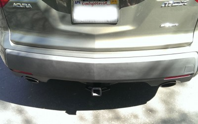Car touch up - Acura MDX rear bumper trim - Before touch up