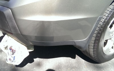 Car touch up - Acura MDX rear trim - Before touch up
