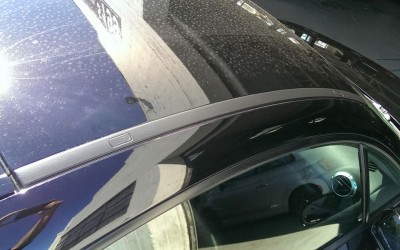Car touch up - Audi TT Rail trim - After touch up