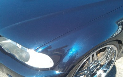 Car touch up - BMW M3 Fender 2- After touch up