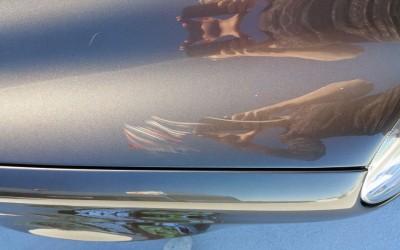 Car touch up - Mercedes-Benz E350 Gold - Hood Scratch - Before