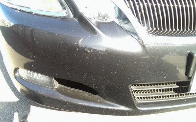 Car touch up - Lexus-ES350-front-bumper - Before touch up