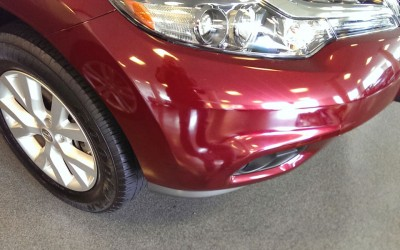Car touch up - Nissan Rogue scrape - After touch up