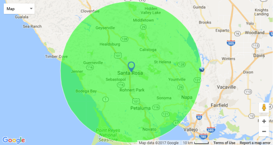 Contact Us Automotive Touch Up Professionals - California map ramona