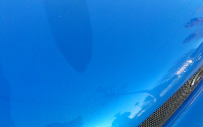 Car touch up - Subaru-WRX-hood - After-test-spot