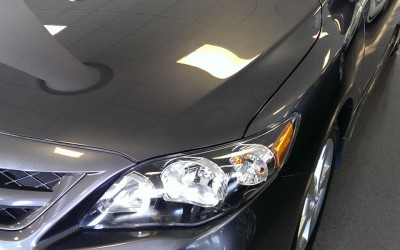 Car touch up - Toyota Carolla hood scratch - After touch up