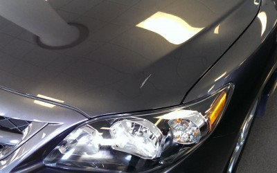 Car touch up - Toyota Carolla hood scratch - Before touch up