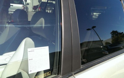 Car touch up - Toyota Highlander window trim - After touch up