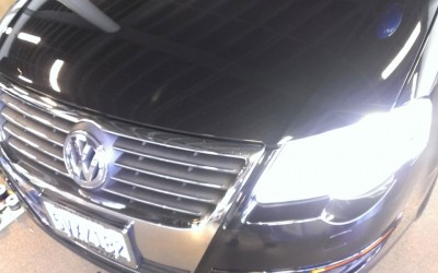 Car touch up - VW Jetta hood - After touch up