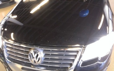 Car touch up - VW Jetta hood - Before touch up