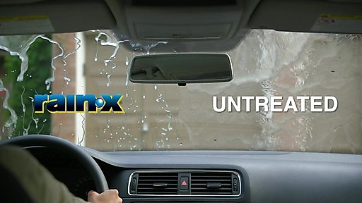 rain x windshield treatment before and after.
