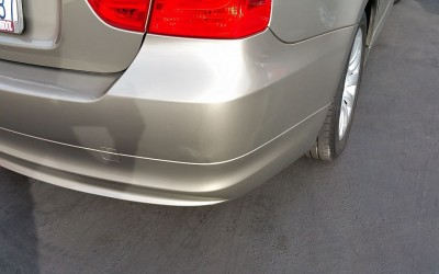 Car touch up - BMW 328i Gold - Scrape Damage Rear Bumper - After Car Touch Up